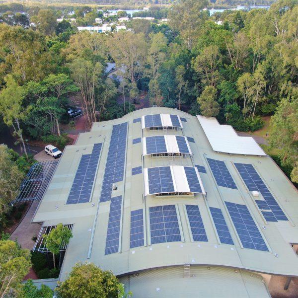 Library solar installation